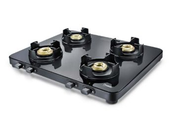 PRESTIGE EDGE GLASS GAS STOVE PEB 04 (BLACK)