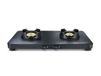 PRESTIGE EDGE GLASS GAS STOVE PEB 02 (BLACK)
